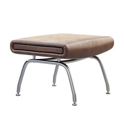 Padded Leather Stool