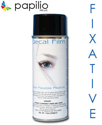 Aerosol clear fixative spray flexible film.
