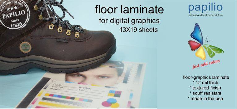 Floor Graphic Over Laminate Sheets Textured Gloss Clear - 13 in x 19 in - 10 Sheets