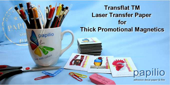 Laser Transfer Paper Hard Surface and Magentic Vinyl Imaging