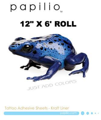 "Temporary Tattoo Adhesive  12"" x 30' ROLL (Plus free laser tattoo paper)"