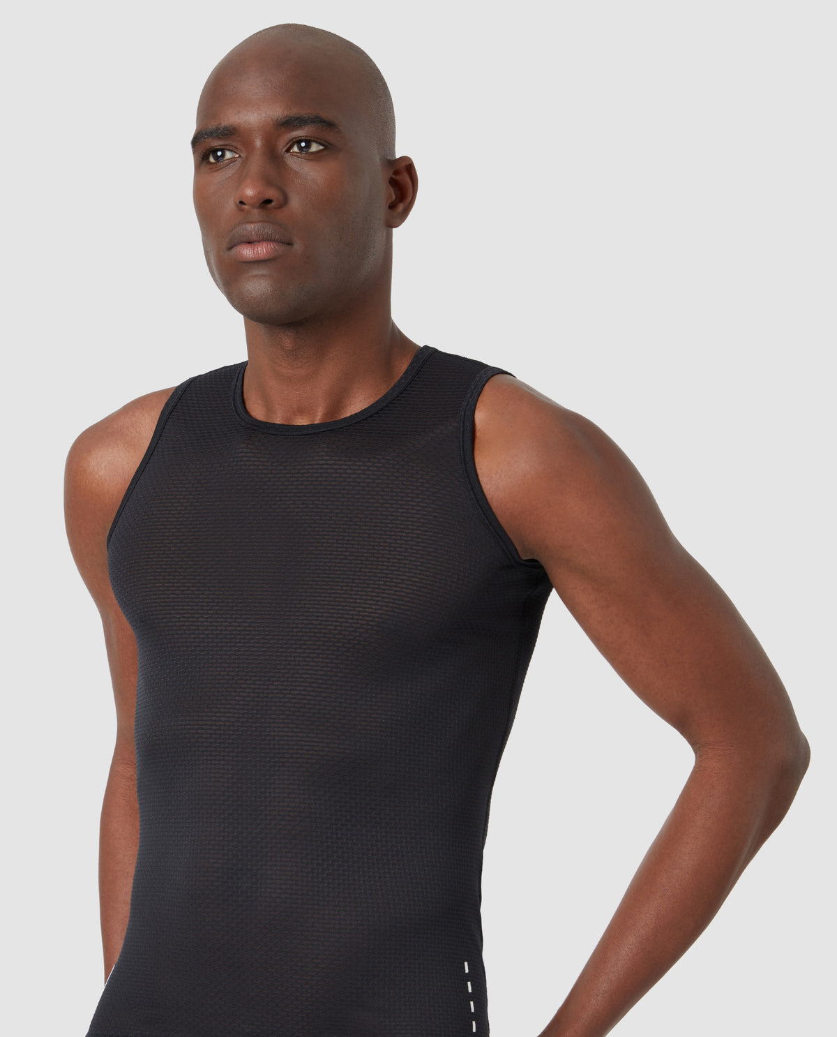 Mesh Sleeveless Base Layer Black