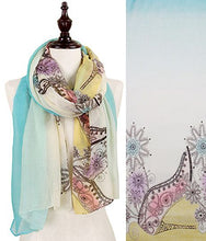 Load image into Gallery viewer, FLOWER SHOE PRINT OBLONG SCARF
