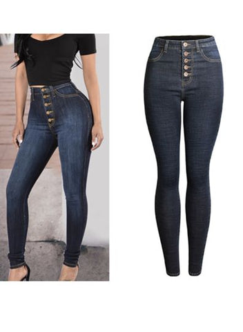 Women's Sunny Sculpted High Rise Skinny Jean with Button Fly a Chic Style
