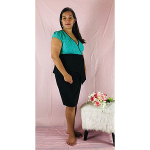 Chicago Mint Black Dress - Plus Size