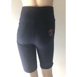 V.I.P. Women's Shorts Flower Embroidery