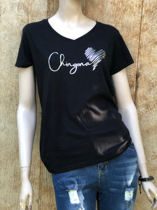 Chiñgoña V-neck t-shirt