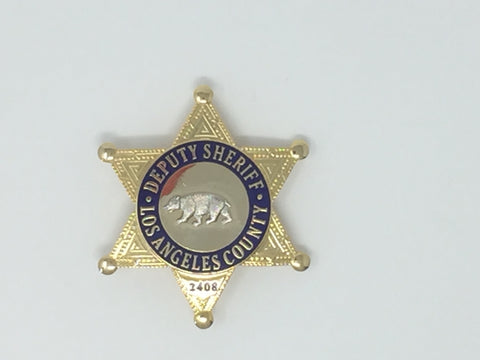 Costume Replica Deputy Sheriff Los Angeles County Badge #2408