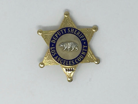 Costume Replica Deputy Sheriff Los Angeles County Badge #3000
