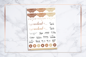 Fall Leaves || Happy Planner