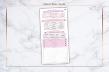 Load image into Gallery viewer, Pink/Purple & Marble - Annual Calendar || Hobonichi Techo Weeks