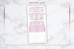 Pink/Purple & Marble - Annual Calendar || Hobonichi Techo Weeks