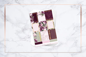 Merlot & Floral || For Erin Condren Vertical