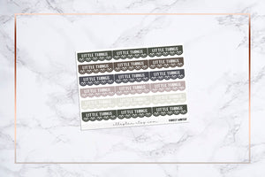 Little Things || Scalloped Doily Header Covers