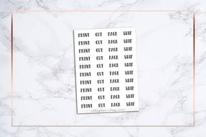 Print, Cut, Pack, Ship || BUJO-Type Font Stickers