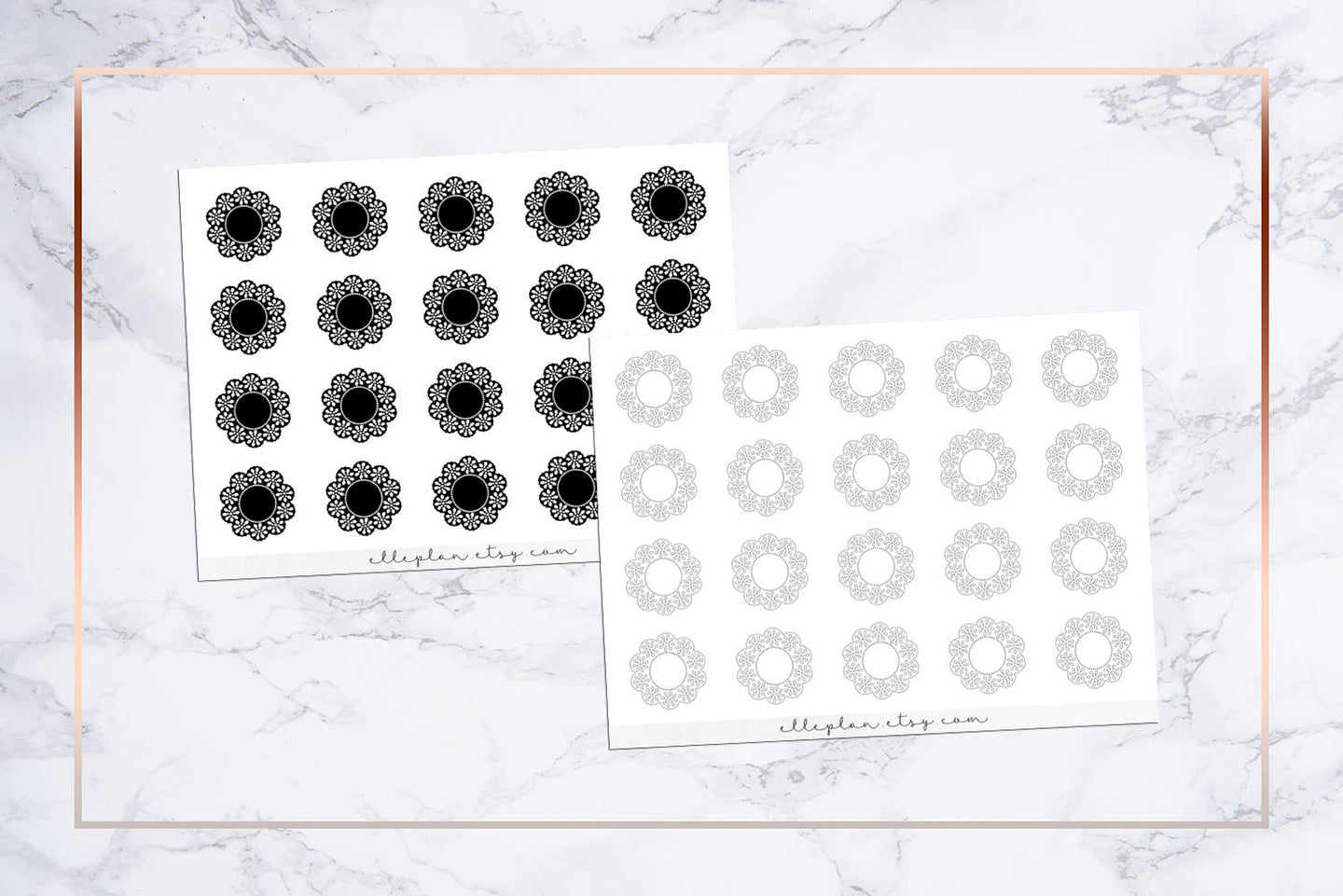 Mini Circular Doily Stickers