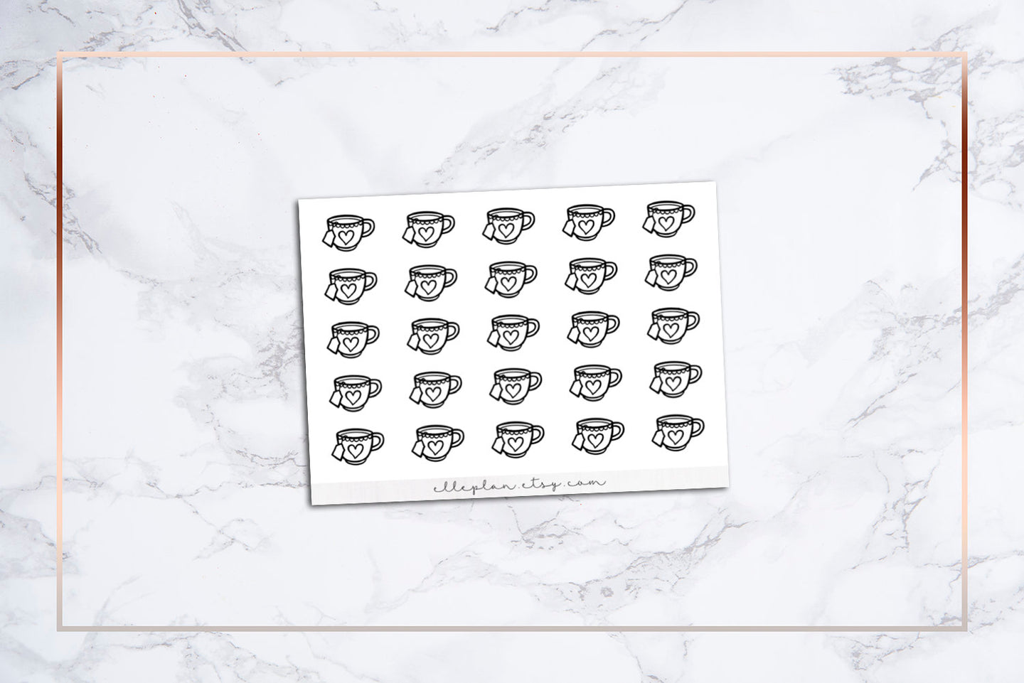 Tea Cup Icon Stickers