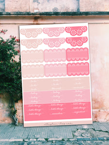 Pink Things || Happy Planner