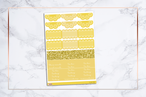 Yellow Things | For Erin Condren Vertical