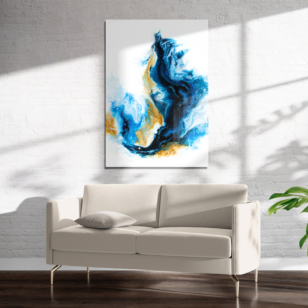 CRASHING SEA Art on Acrylic By Alyson McCrink
