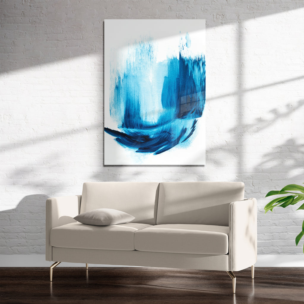 ARCTIC BLUE 1 Art on Acrylic By Alyson McCrink