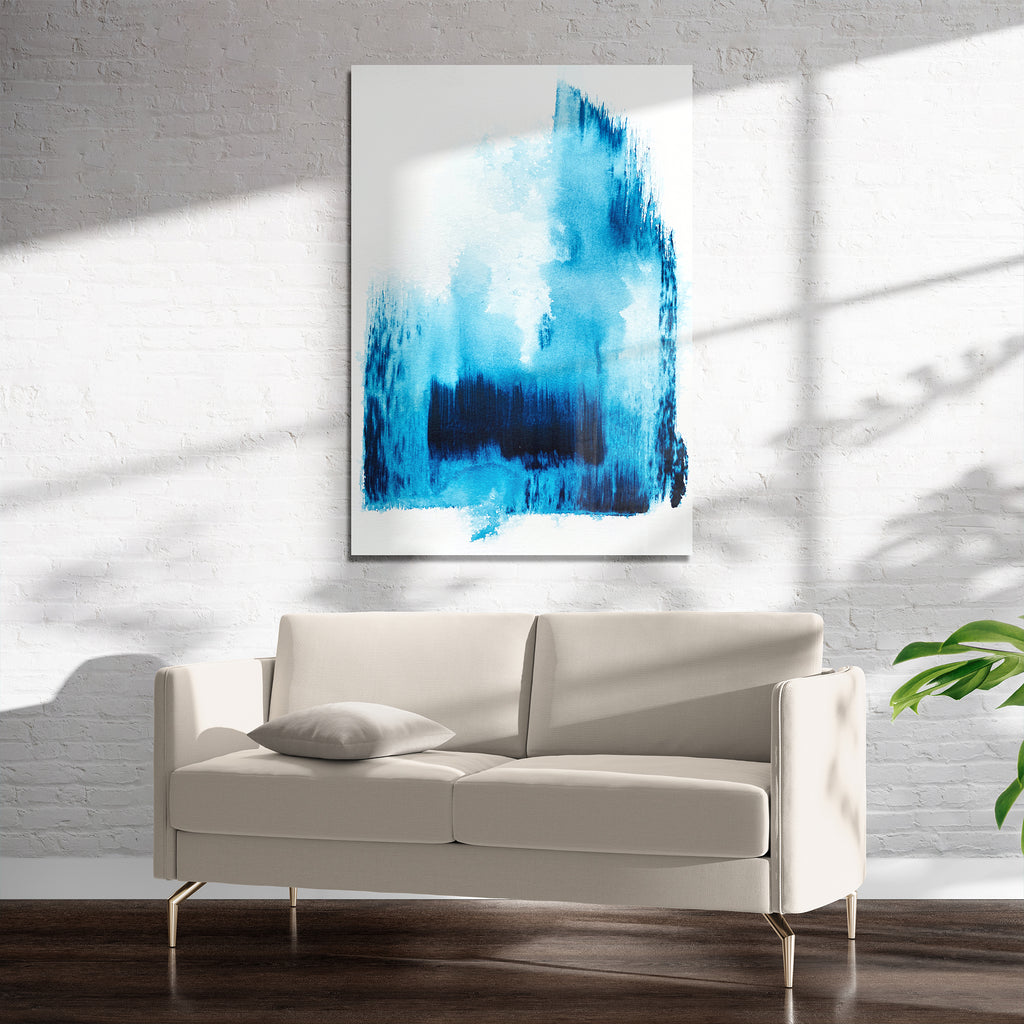 ARCTIC BLUE 2 Art on Acrylic By Alyson McCrink