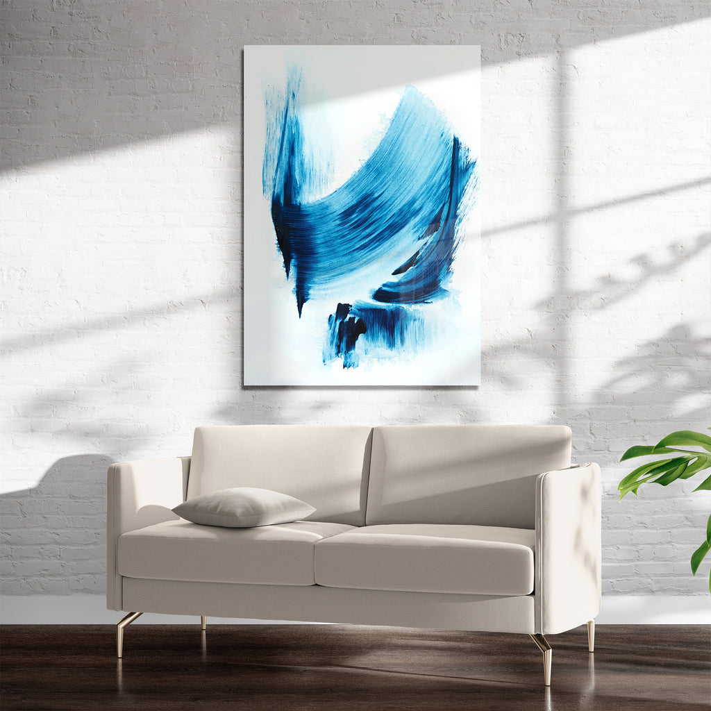 ARCTIC BLUE 3 Art on Acrylic By Alyson McCrink