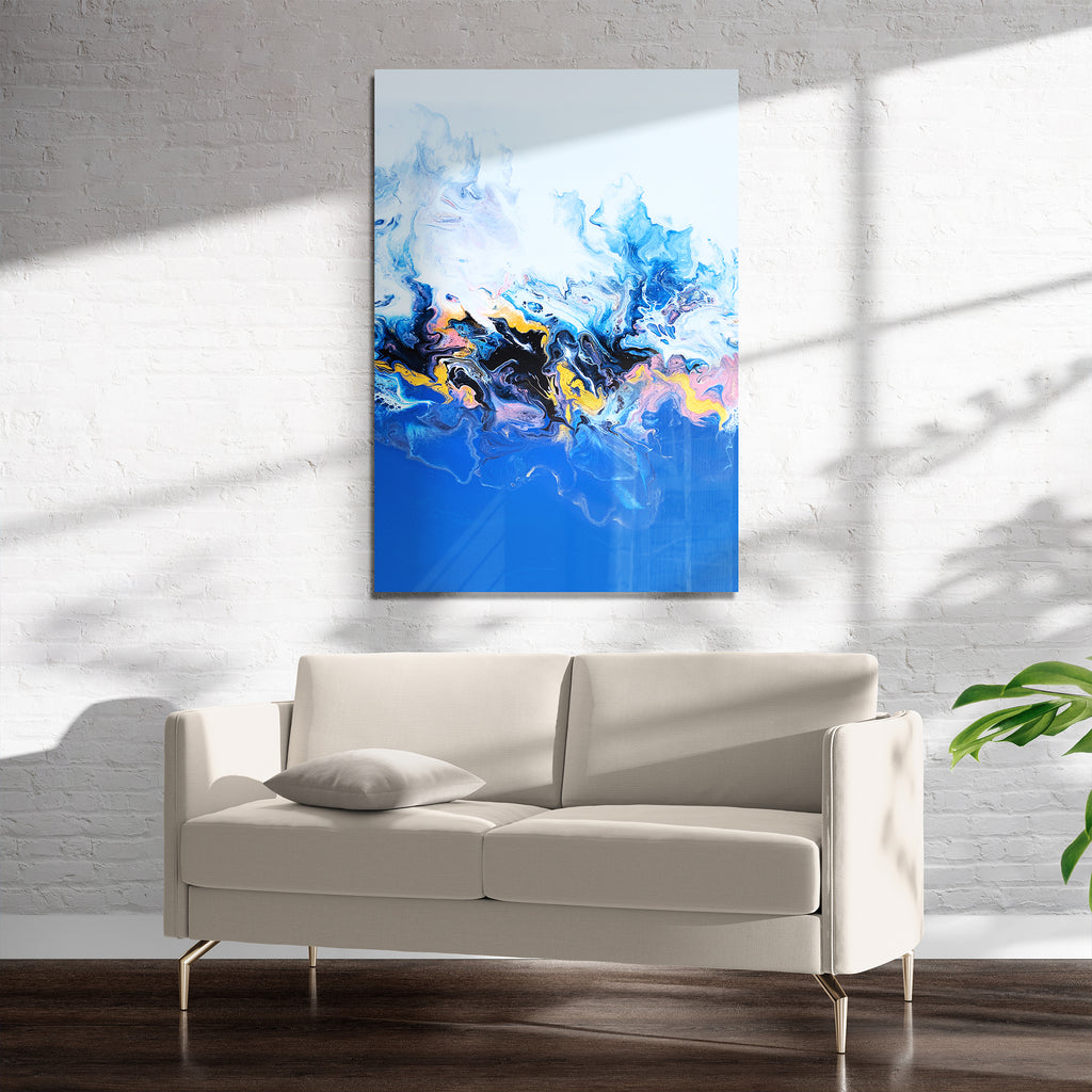 EVOLUTION BLUE Art on Acrylic By Alyson McCrink