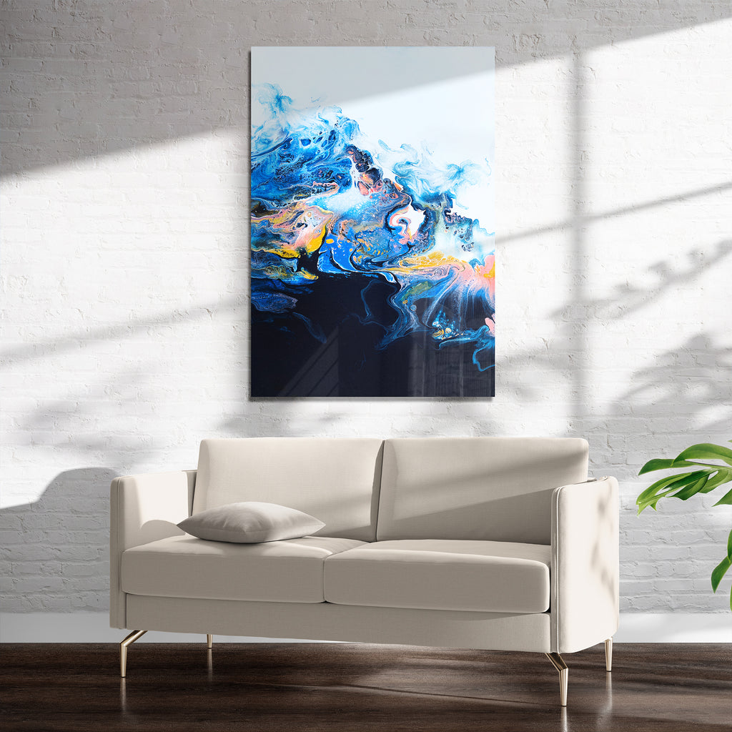 EVOLUTION NAVY Art on Acrylic By Alyson McCrink