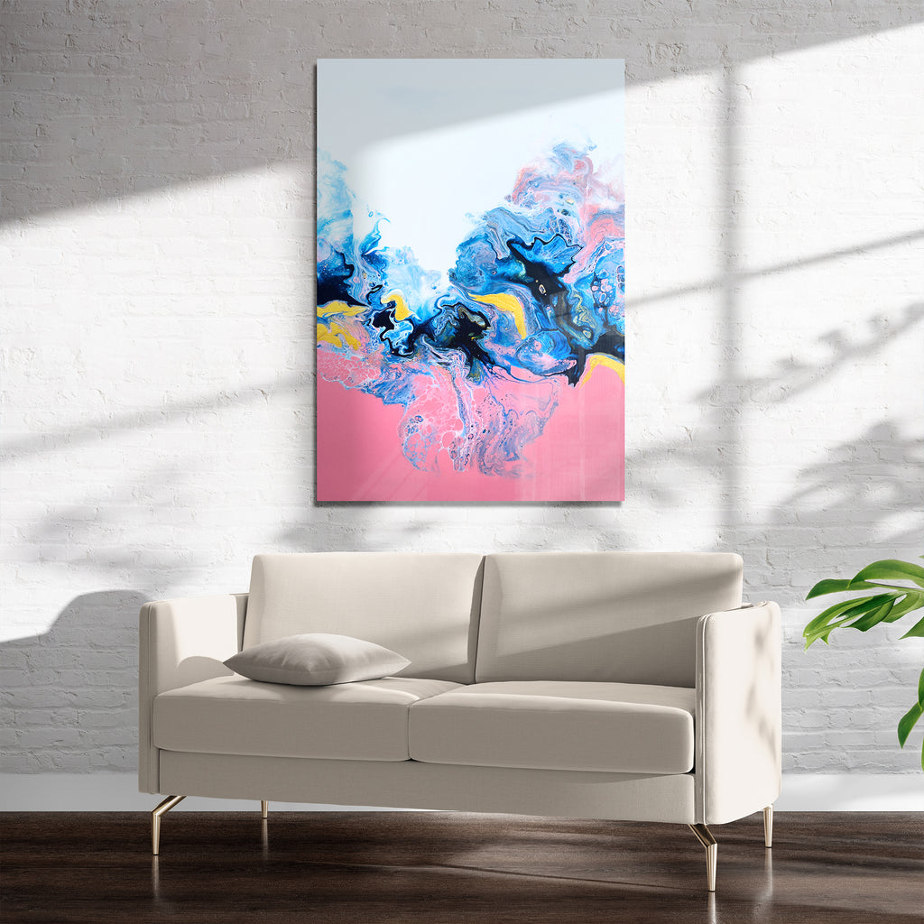EVOLUTION PINK Art on Acrylic By Alyson McCrink