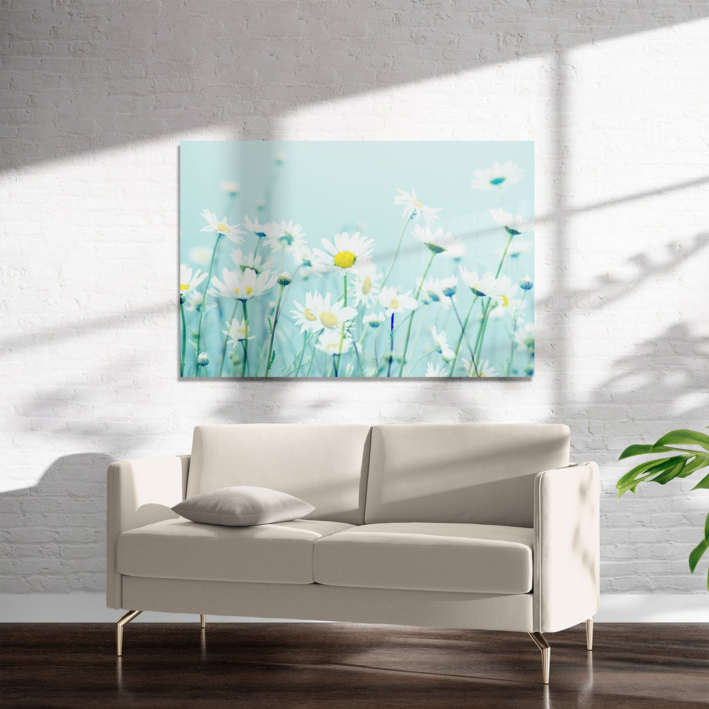 DANCING DAISIES Art on Acrylic By Robin Delean