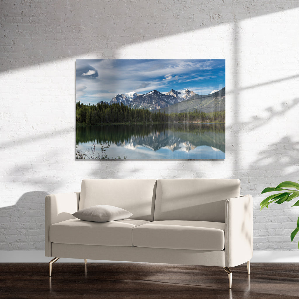 MOUNTAIN LANDSCAPE Art on Acrylic By David Phillips