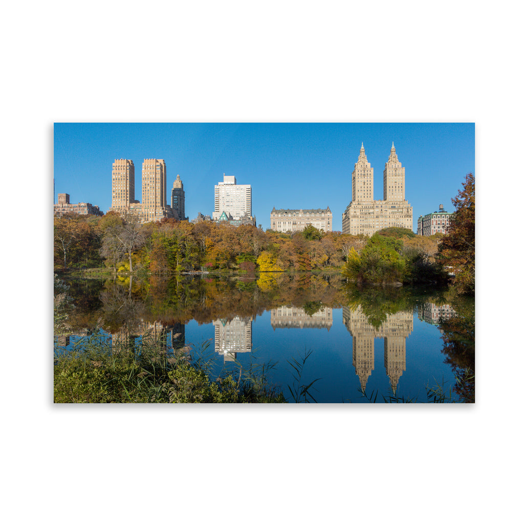 FALL REFLECTIONS, CENTRAL PARK Art on Acrylic By David Phillips