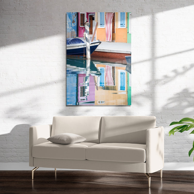 BURANO REFLECTIONS Art on Acrylic By David Phillips