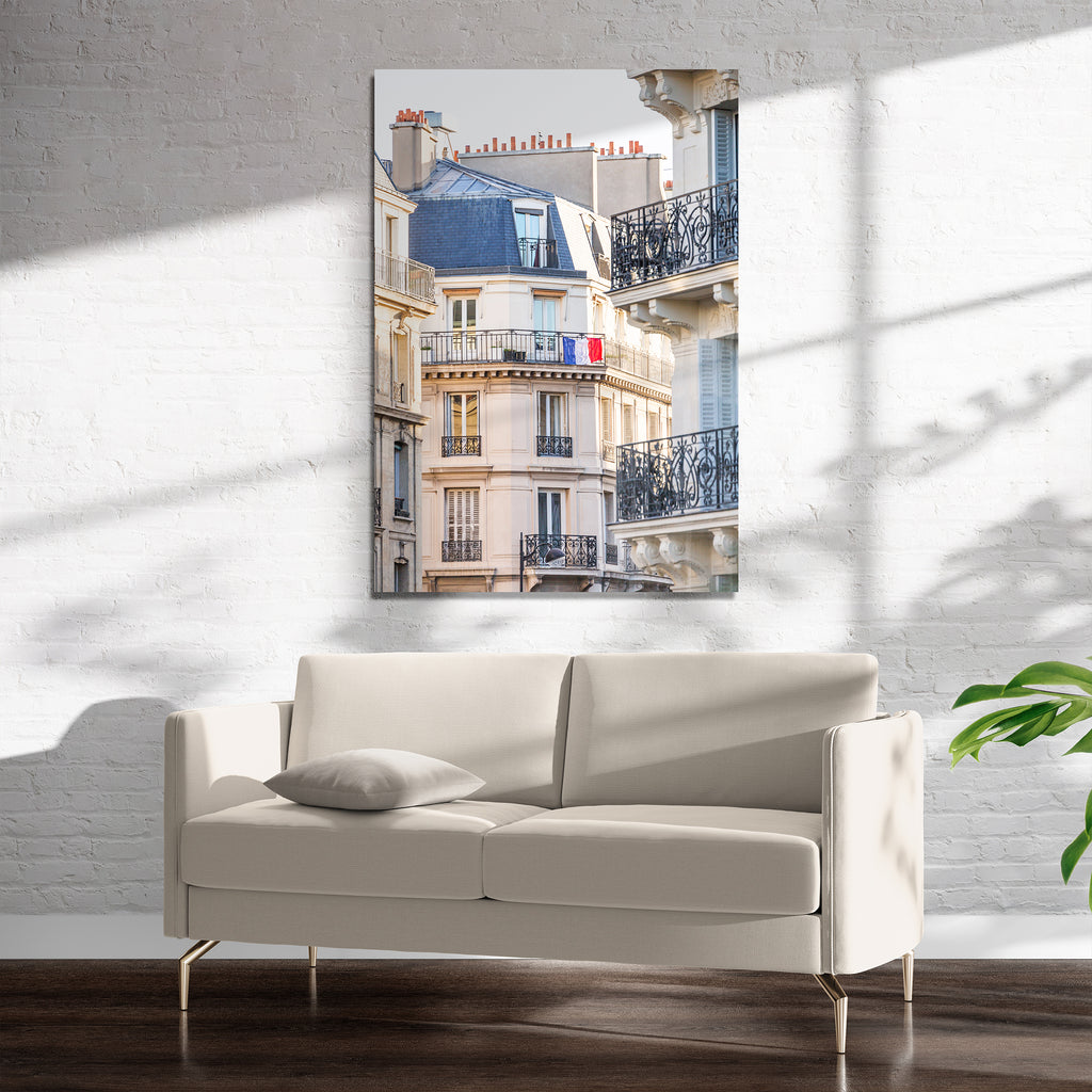 FRENCH BALCONY FLAG Art on Acrylic By David Phillips
