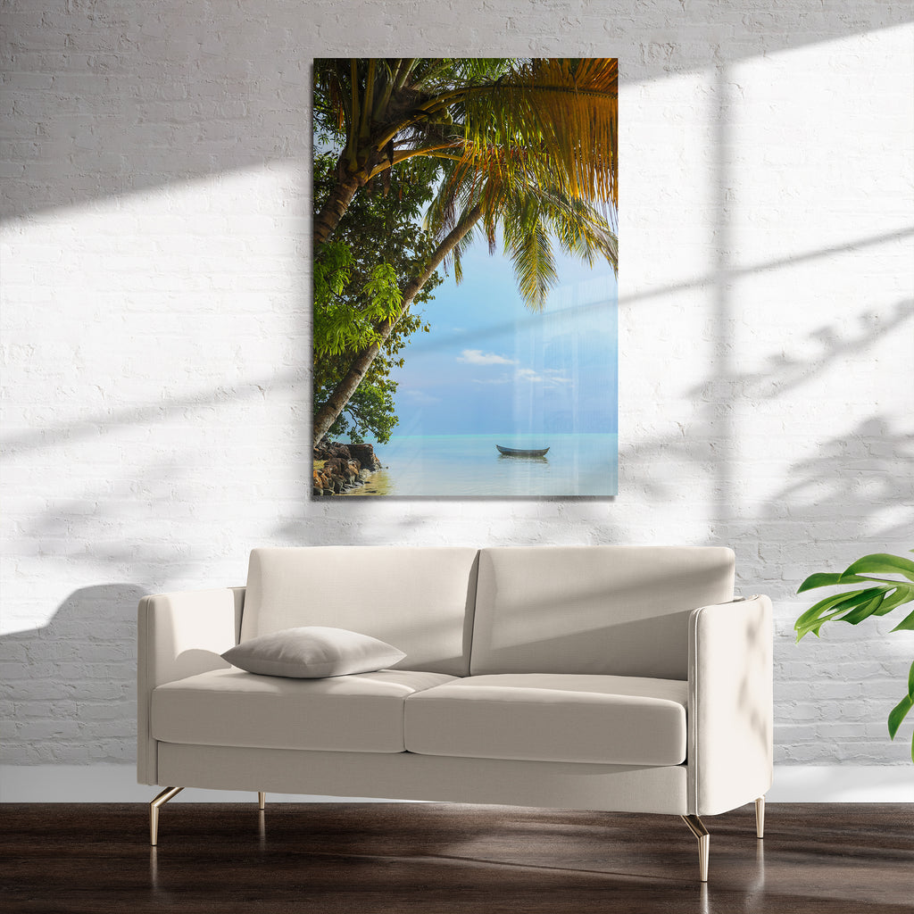 TROPICAL PALM TREE VIEWS Art on Acrylic By Heather Rae