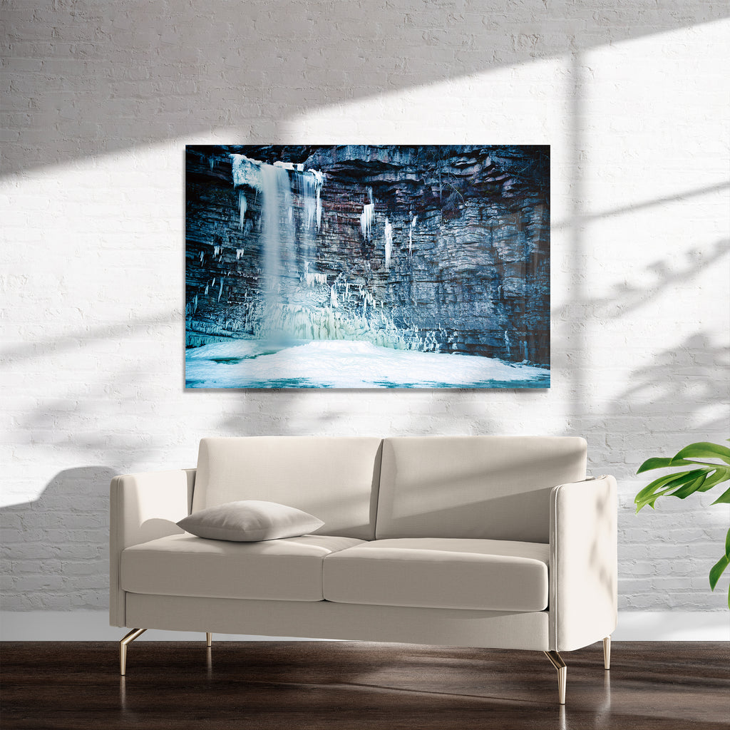 ICY WATERFALLS Art on Acrylic By Heather Rae