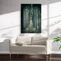 WOODED FOREST PATH Art on Acrylic By Heather Rae