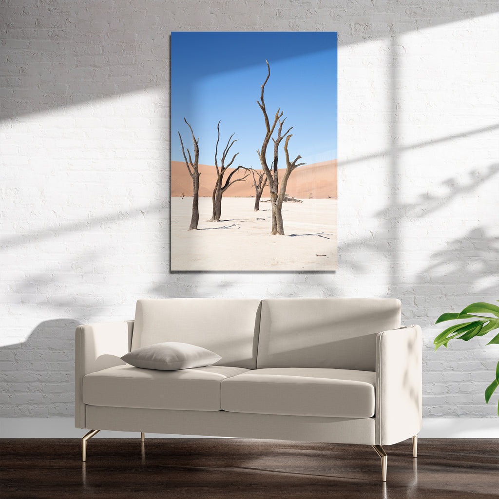 DRY DESERT WASTELAND Art on Acrylic By Heather Rae