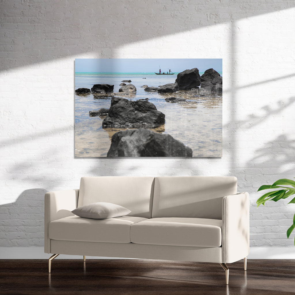 ROCKY OCEAN VIEWS Art on Acrylic By Heather Rae