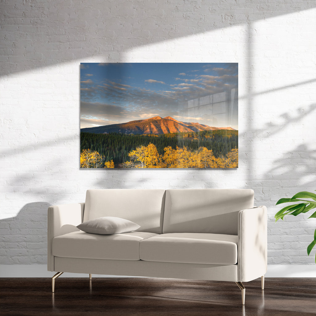 RISING MOUNTAIN Art on Acrylic By Heather Rae