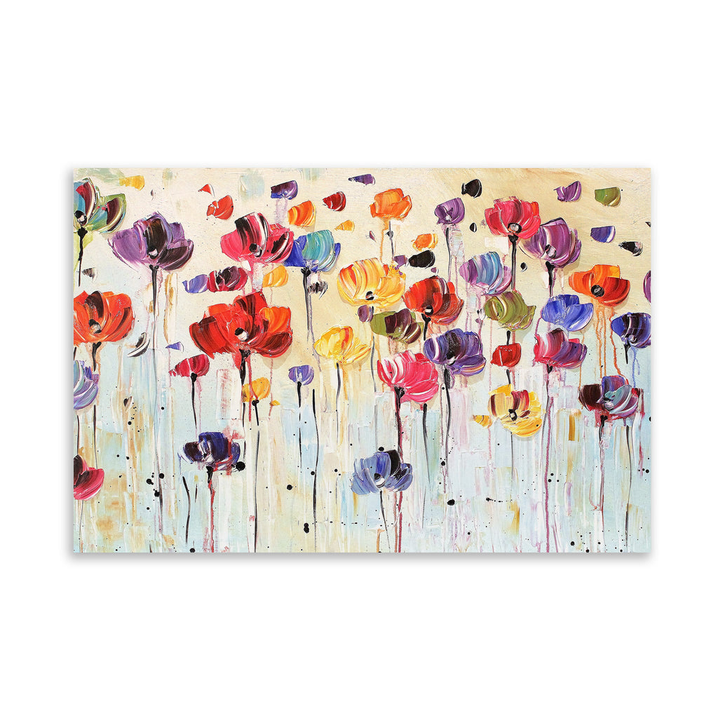 DANCING FLOWERS Art on Acrylic By Jolina Anthony