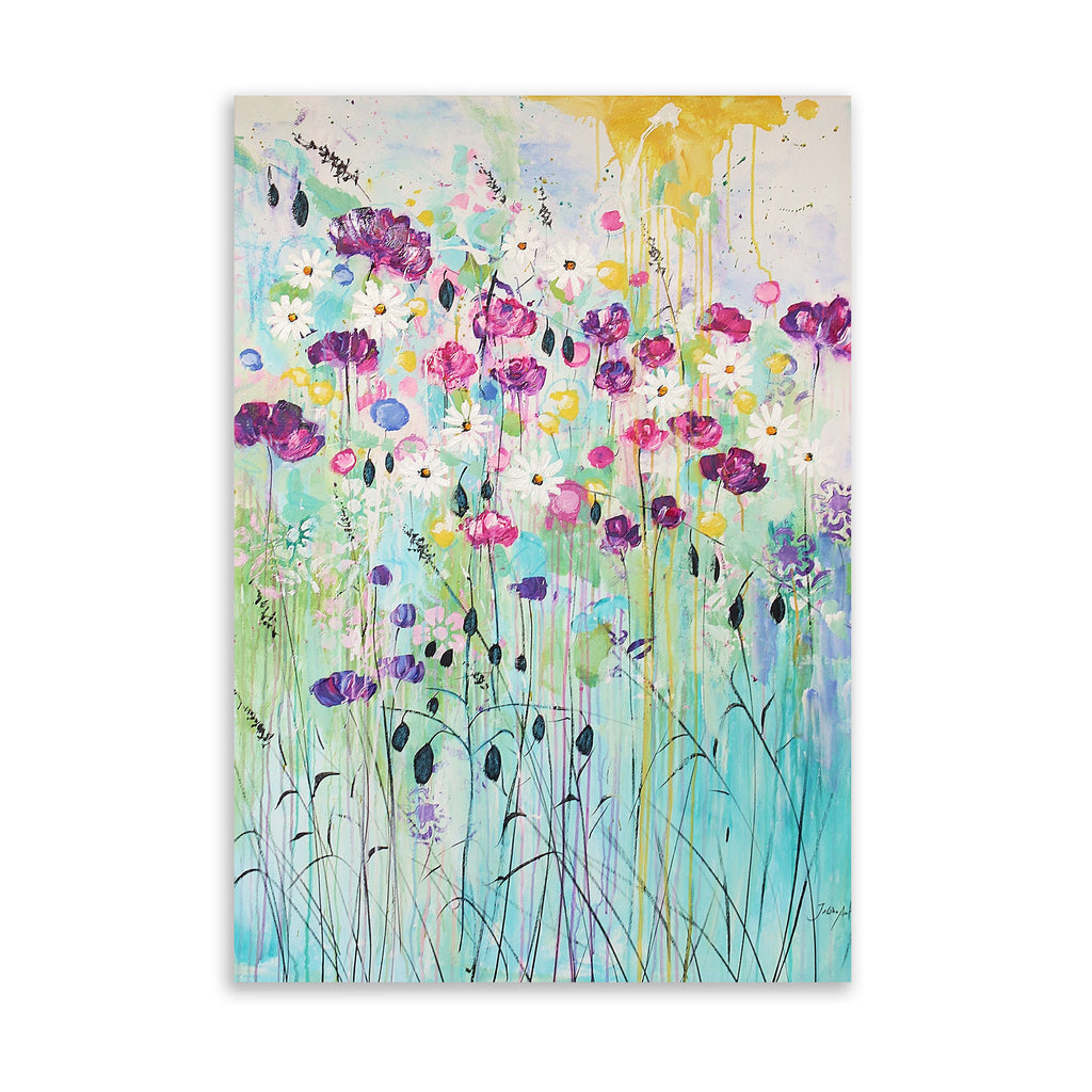 FLORAL PLAY Art on Acrylic By Jolina Anthony
