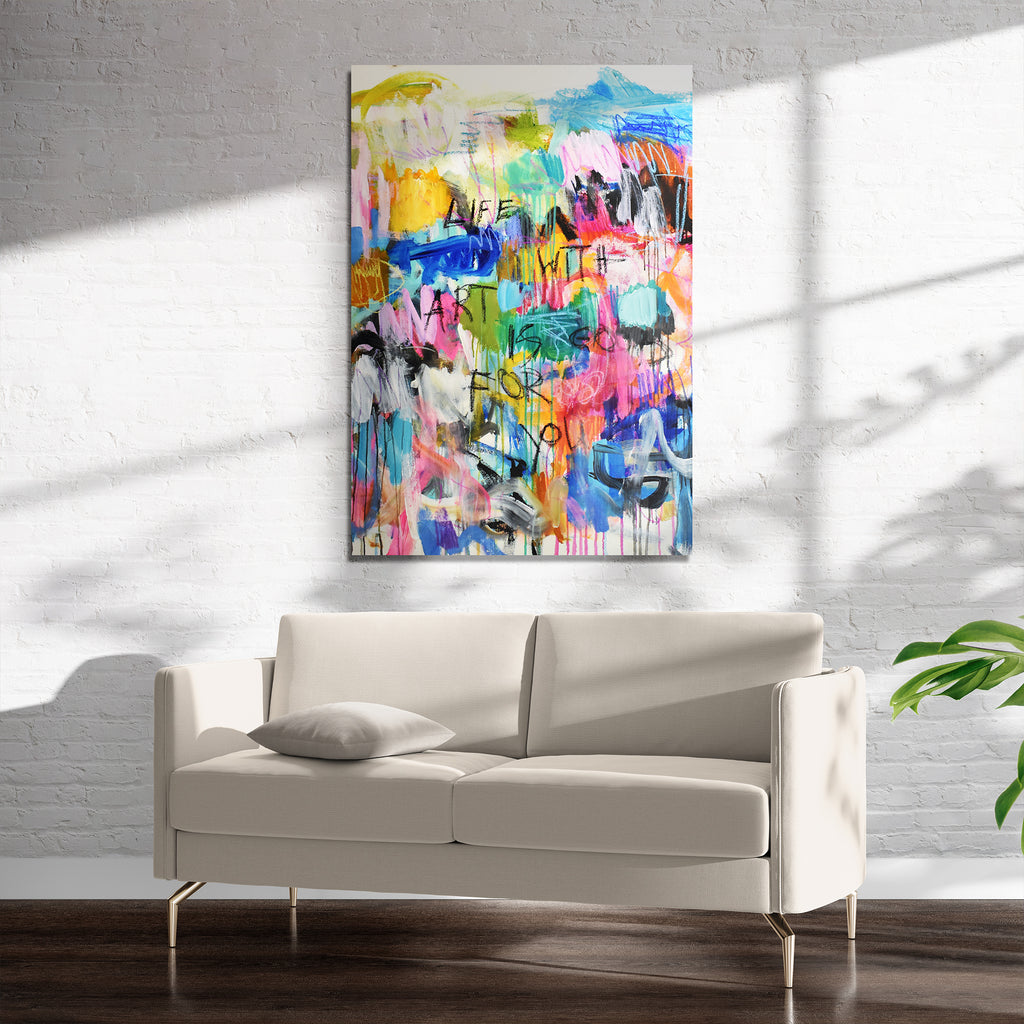 Life with Art is Good for You Art on Acrylic By Jolina Anthony