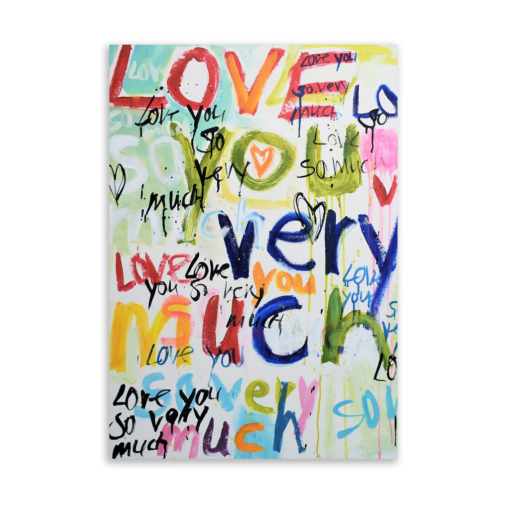Love you Very Much Art on Acrylic By Jolina Anthony