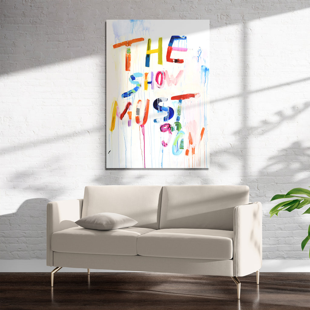 THE SHOW MUST GO ON Art on Acrylic By Jolina Anthony