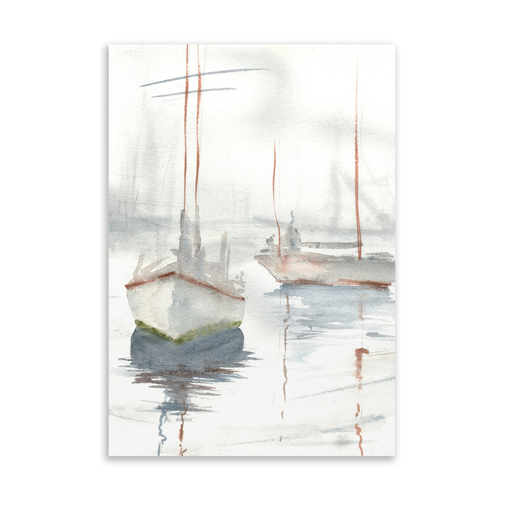 MISTY BOATS Art on Acrylic By Jayne Conte
