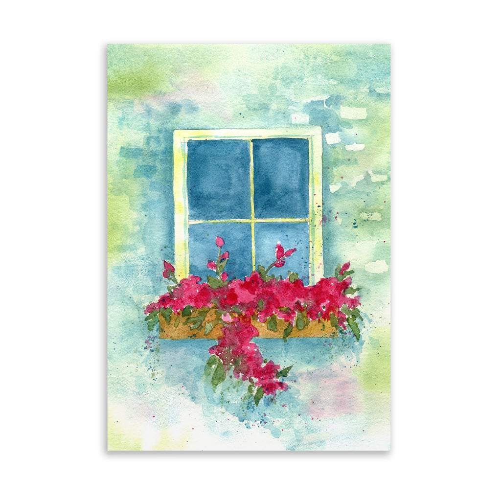 COTTAGE WINDOW Art on Acrylic By Jayne Conte