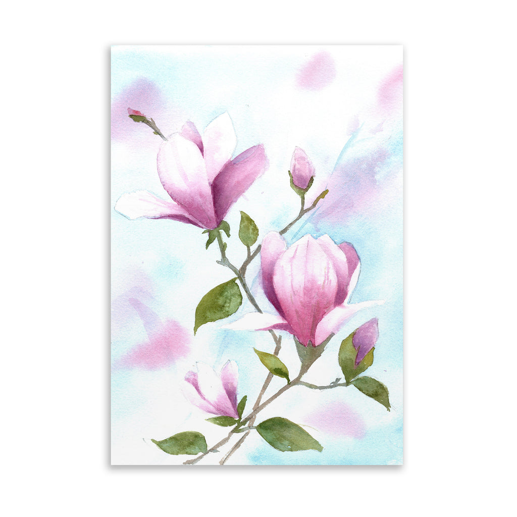 MAGNOLIAS Art on Acrylic By Jayne Conte