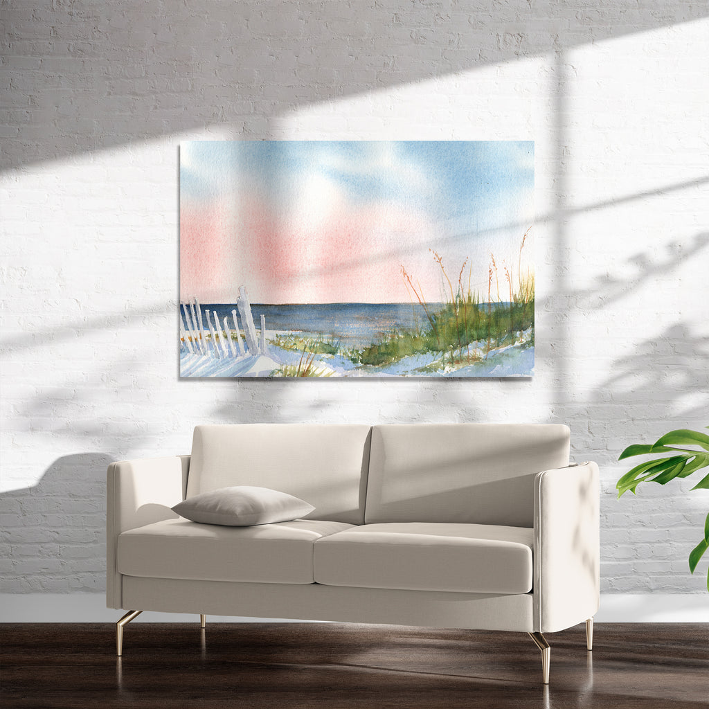 BEACH AT DAWN Art on Acrylic By Jayne Conte
